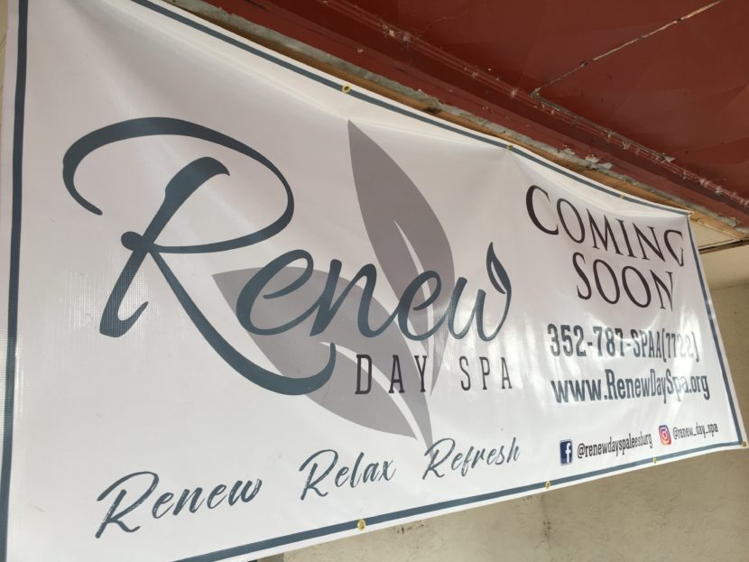 Renew Day Spa Coming Soon